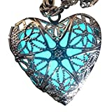 UMBRELLALABORATORY Steampunk Fairy Magical Glow in the Dark Heart like custom made Necklace-gifts for teen girls,Mother, Father, little girls jewelry