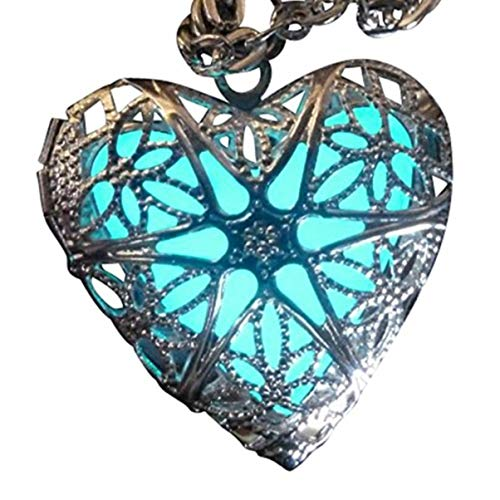UMBRELLALABORATORY Steampunk Fairy Magical Glow in the Dark Heart like custom made Necklace-gifts for teen girls,Mother, Father, little girls jewelry -