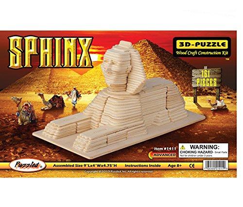 Price comparison product image Puzzled, Inc. 3D Natural Wood Puzzle - Sphinx