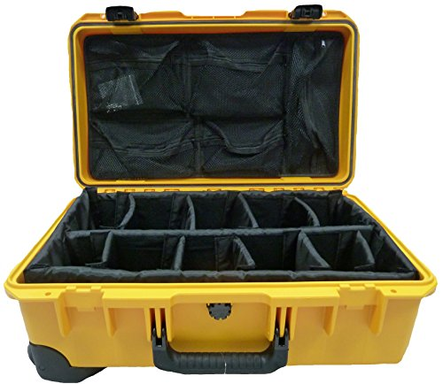 Pelican iM2500 Yellow with padded dividers & 1519 Lid Organi