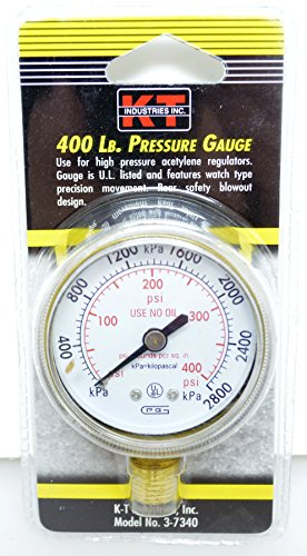 - K-T Industries 3-7340 Pressure Gauge, 400 lb
