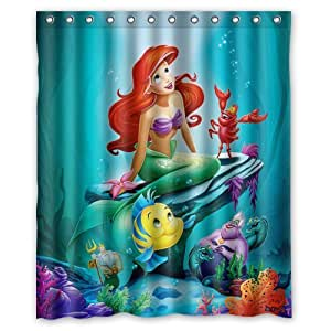 Generic the little mermaid ariel shower curtain 60 inch by 72 inch home kitchen - The little mermaid bathroom decor ...