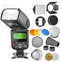 Neewer® PRO NW670 E-TTL Photo Flash Kit for CANON Rebel T5i T4i T3i T3 T2i T1i XSi XTi SL1, EOS 700D 650D 600D 1100D 550D 500D 450D 400D 100D 300D 60D 70D DSLR Cameras, Canon EOS M Compact Cameras,Includes:(1)NW670 ETTL Flash for Canon +Speedlite Flash Accessories Kit with Barndoor, Snoot,Honeycomb,Standard Reflector, Diffuser Ball,Color Gel(Orange, Blue, White, Yellow),Softbox, Universal Mount Adpater