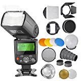 Neewer PRO E-TTL Photo Flash Kit for CANON: NW670 ETTL Flash+Speedlite Flash Accessories Kit with Barndoor, Snoot, Softbox, Honeycomb, Standard Reflector, Diffuser Ball, Color Gel, Mount Adpater