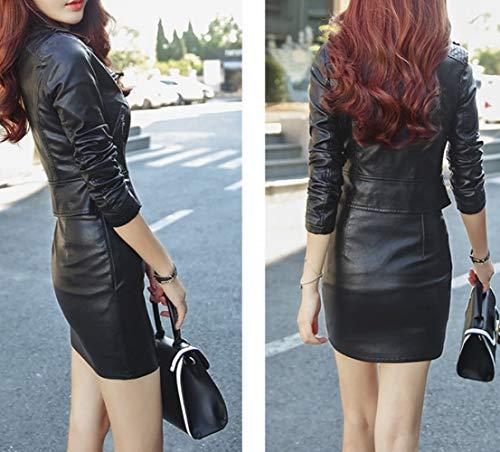 Veste Courte Robe Printemps Noir Manteau Automne Mode Revers et Femme L Noire Rose Nouveau SED BAwZPqSEE