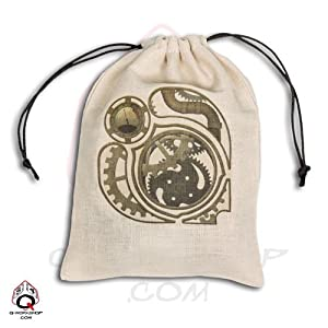 Q-Workshop: Large Steampunk Dice Bag in Linen – Oversized