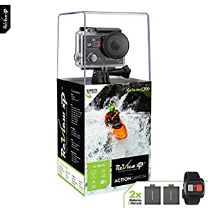 Review XP 4K HD Wi-Fi Waterproof Action Camera 14MP 30fps Sports Video Underwater Camcorder 170° Wide Angle Dual Lens Screen 2 Batteries Accessories Kit Remote Control – Black