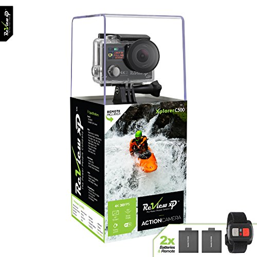 Review XP 4K Wi-Fi Waterproof Sports Action Camera 16MP SONY Sensor 30fps HD Video Underwater Camcorder 170° Wide Angle Dual Lens Screen 2 Batteries Accessories Kit Remote Control - Black Action Cameras