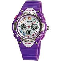 PASNEW Girls Watch Waterproof Digital Display Sports Casual Wrist Watches Age 8-18