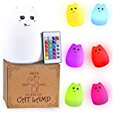 Color Changing Cat Lamp – Smiling: Best Rechargeable Silicone LED Night Light for Kids and Adults – with Adjustable Brightness and Color Modes for a Good Night's Sleep For Sale