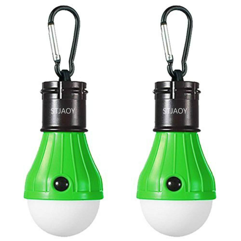 STAJOY Luz de Camping Portátil Linterna LED Tienda Luz Blub Luz de Emergencia Lámpara con Batería Alimentada para Camping, Senderismo, Pesca (4 Packs), 4 Packs