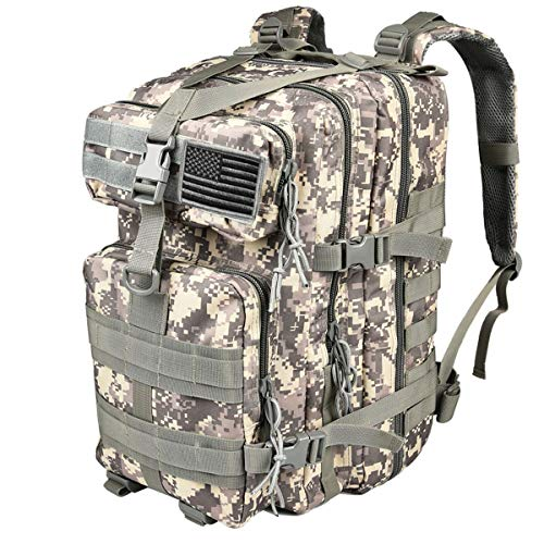 CVLIFE Military Tactical Backpacks 6 Day Assault Pack Molle Bag Army Rucksacks for Outdoor Hiking Camping Fishing Hunting with Tactical Flag Patch
