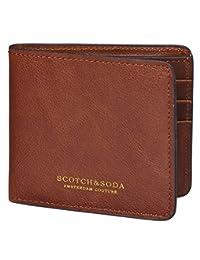 Scotch & Soda Leather Mens Wallet OS Chestnut