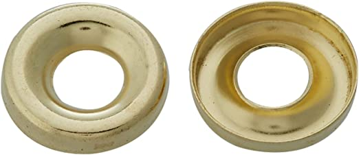 8 EB BRASS PLATED SCREW CUP SURFACE FINISHING WASHERS No pack of 1000
