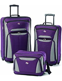 Luggage Fieldbrook II 3 Piece Set, Purple/Grey