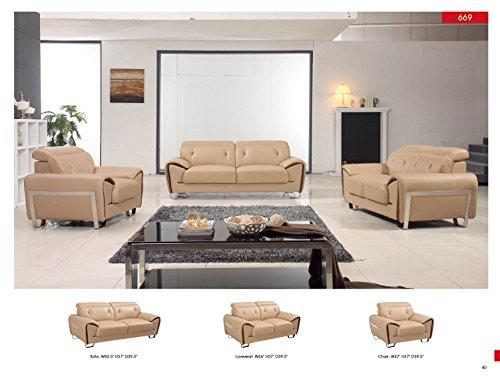 - Z-69 Modern Living Room Leather Sofa Set Contemporary Italian Design