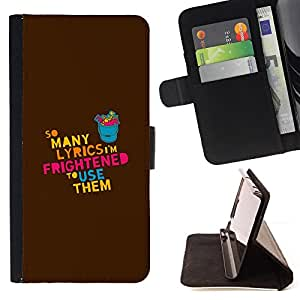DEVIL CASE - FOR Samsung Galaxy S4 Mini i9190 - Lyrics Song Music Love Quote Funny Creativity - Style PU Leather Case Wallet Flip Stand Flap Closure Cover
