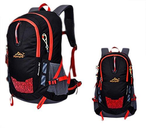 30L Paquete Profesional Al Aire Libre De Excursión De Excursión Alpinismo Capacidad De Gran Capacidad Mochila Hombres Y Mujeres , black Black