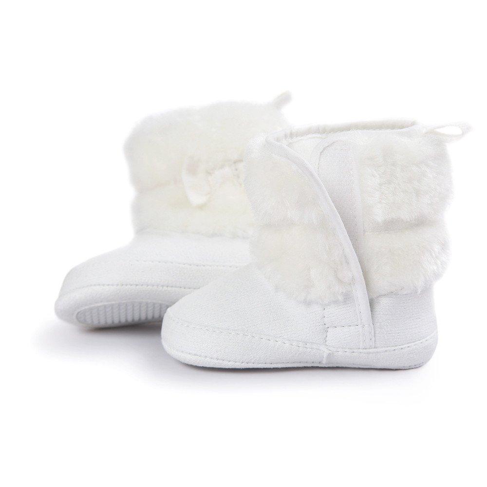 talla 3-6 meses de tela afelpada Botas de ni/ña para beb/és para invierno y nieve con lazo de Estamico de peluche color verde