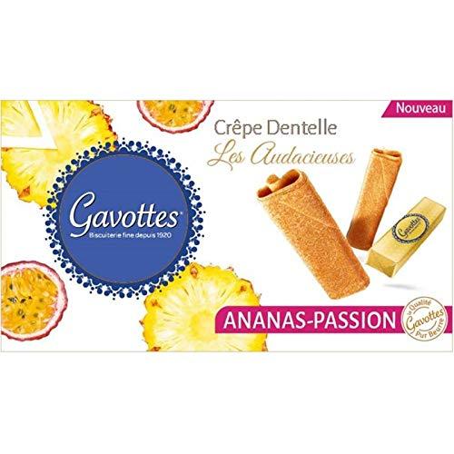 Gavottes - The Bold Crepes Lace Piña Pasión 125G - Les Audacieuses Crepes Dentelle Ananas Passion 125G - Precio Por Unidad - Entrega Rápida: Amazon.es: ...