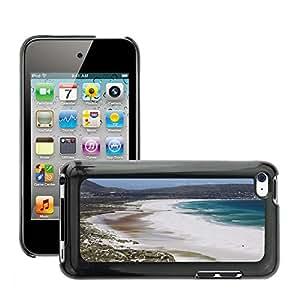 Etui Housse Coque de Protection Cover Rigide pour // M00170459 Agua Mar Playa Montañas Costa // Apple ipod Touch 4 4G 4th
