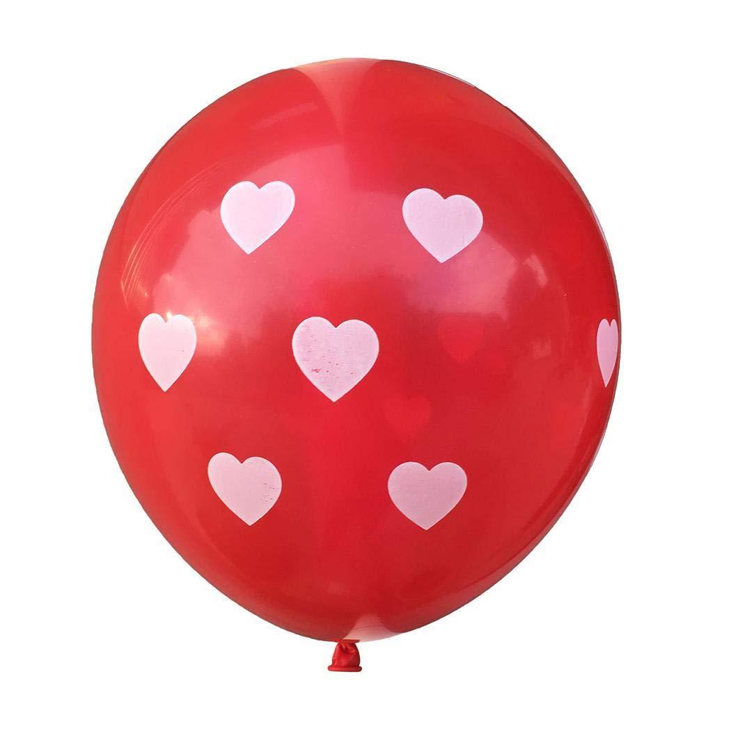 Lieja 10 Pezzi//Pacco Decorazione stabilita del Partito di Celebrazione di Nozze del Pallone dello zecchino di San Valentino Soprammobili