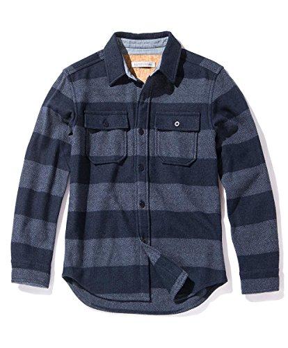 Outerknown Men's Highland Blanket Shirt, Small, Sierra Stripe