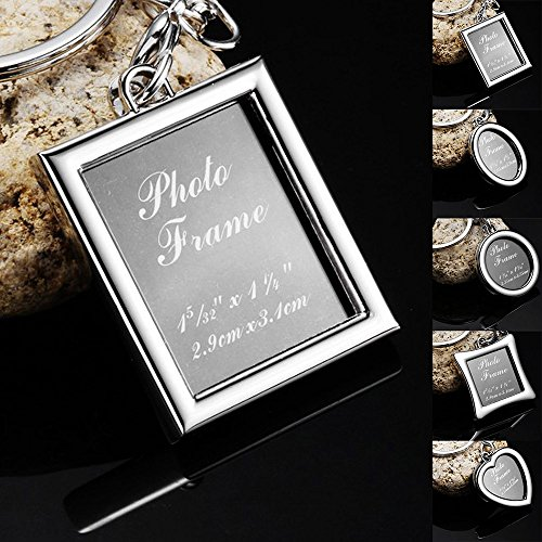 SSWQ Zinc Alloy Stainless Steel Buckle Gift Hot Living Floating Charm Memory Locket Key Keychain -Rectangle (Key Tag Floating)