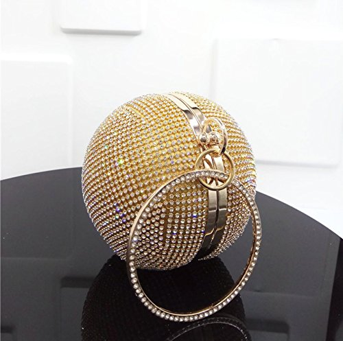 ronde pour KOTiger femmes jaune en Pochette diamant 8cpqSU