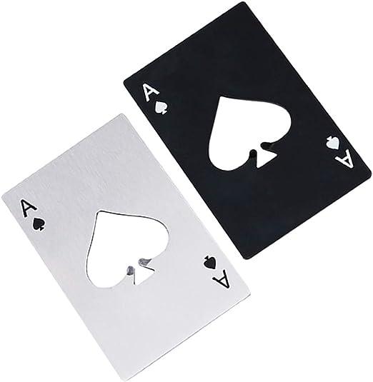 Beer bottle opener playing card Ace of spades Wallet size mini bottle opener