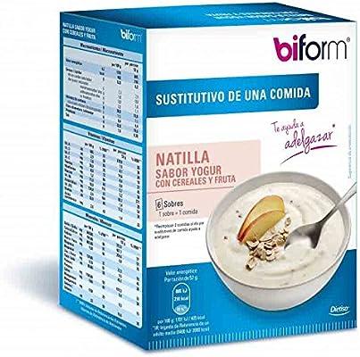 Biform Natillas Yogur y Cereales 6 sobres Dietisa: Amazon.es ...