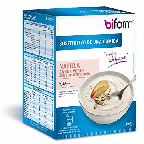 Biform Natillas Yogur y Cereales 6 sobres Dietisa: Amazon.es: Deportes y aire libre
