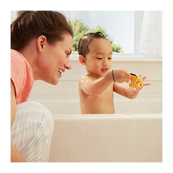 The First Years Disney Baby Bathtime Squirt Toys, Mickey Mouse 6 COLORFUL BATH TOYS FOR TODDLERS: These interactive toys visually engage toddlers SQUIRT TOYS: Squirting action for baby bathtime fun COMPACT SIZE: Easy grip for little hands