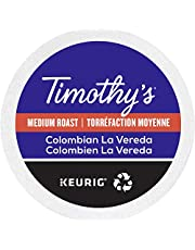 Timothy`s World Coffee Colombian La Vereda Single Serve Keurig Certified Recyclable K-Cup pods for Keurig brewers, 24 Count