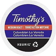 Timothy`s World Coffee Colombian La Vereda Single Serve Keurig Certified Recyclable K-Cup pods for Keurig brew