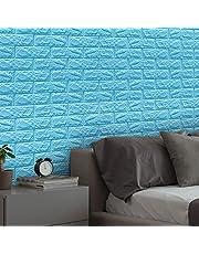 Gidenfly 10 st kakelklistermärken, 3D självhäftande tapeter, imitation tegel väggklistermärken stick väggpaneler gör-det-själv vattentät skumdekoration väggkakel för kök badrum väggplattor, 7770 cm