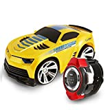 Pinron Smart Watch Voice Command Car Rechargeable Creative Voice-activated RC Car+Dazzling Headlights+Cool Brakes+ 2.4 G Frequency Voice Remote Control Toys Child Kids Birthday Gift