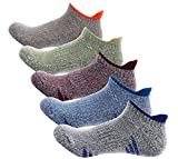 Cheap Men's 5-Pack No Show Cushioned Comfort Fit Running Low Cut Athletic Trainer Socks US shoe 6-11