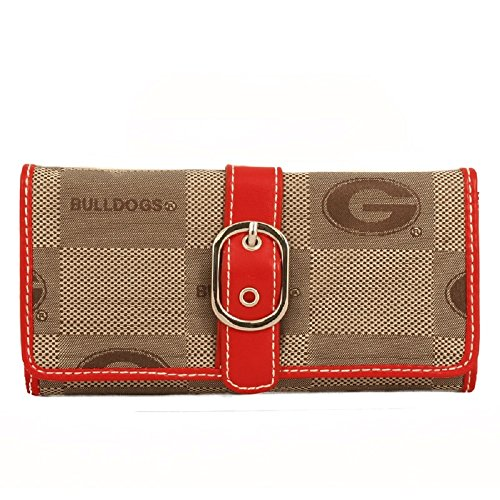 georgia bulldog purse leather - 9