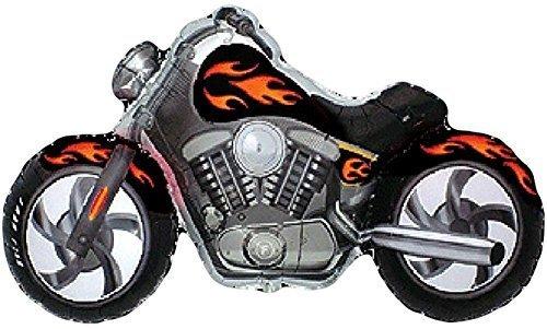 MOTORCYCLE Harley Davidson Hog Bike Snarley Black Flame 45