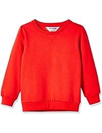 Kids' Slouchy Solid Brushed Fleece Sweatshirt for Boys Girls