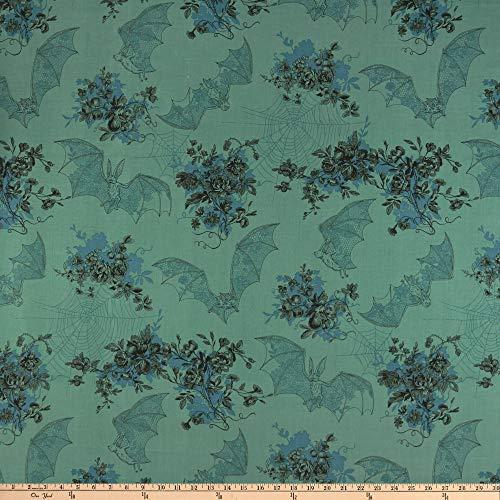 Alexander Henry Angela's Attic Fabric, Green, Fabric By The Yard