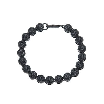 Gahrchian Diamond Bracelet Man Woman Wrist Cuff Bracelets for Women Girl Sister Mother Friends Teen Jewelry Gift (Black 1): Clothing