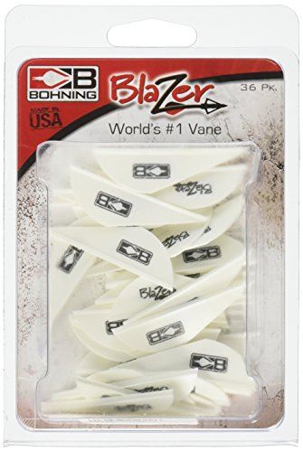 Bohning Blazer Vane (Pack of 36), White