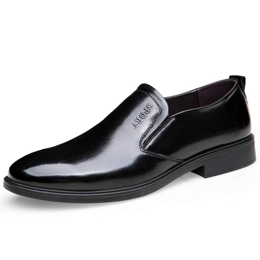 XHD-Schuhe Herren Einfache Business Oxford Lässige Mode Klassische Weiche Hochwertige Leder Formelle Schuhe (Farbe   Schwarz, Größe   40 EU)