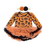 Rerchmo Baby's Fancy Dress Girls Pumpkin Costume for Halloween Princess Party (M 3-6 Months )