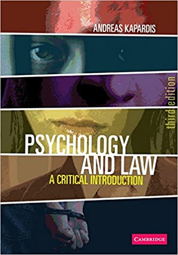 Amazon psychology and law a critical introduction amazon psychology and law a critical introduction 9780521707732 andreas kapardis books fandeluxe Choice Image
