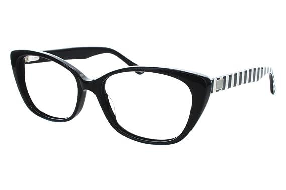 Amazon.com: Lulu Guinness Women\'s L874 Eyeglass Frames Black: Clothing