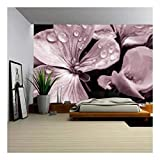 excellent abstract wall mural  - Flower with Raindrops - Removable Wall Mural | Self-adhesive Large Wallpaper - 66x96 inches