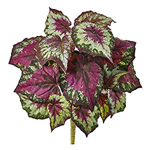 Artificial Flowers -Wax Begonia Bush -Set of 6 Artificial Plant 105